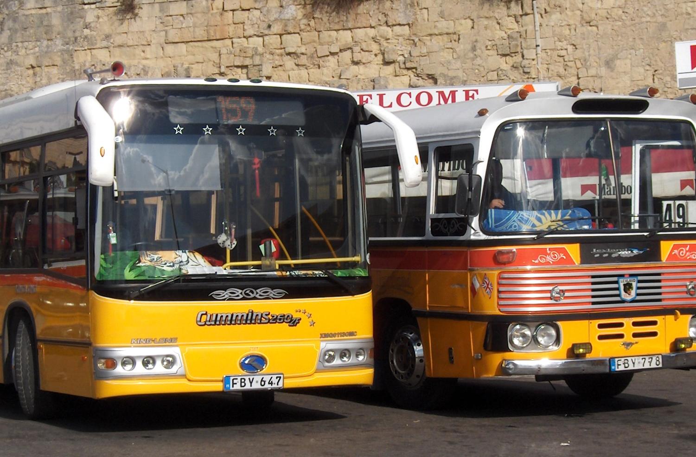 Автобусы - основной вид транспорта на Мальте
