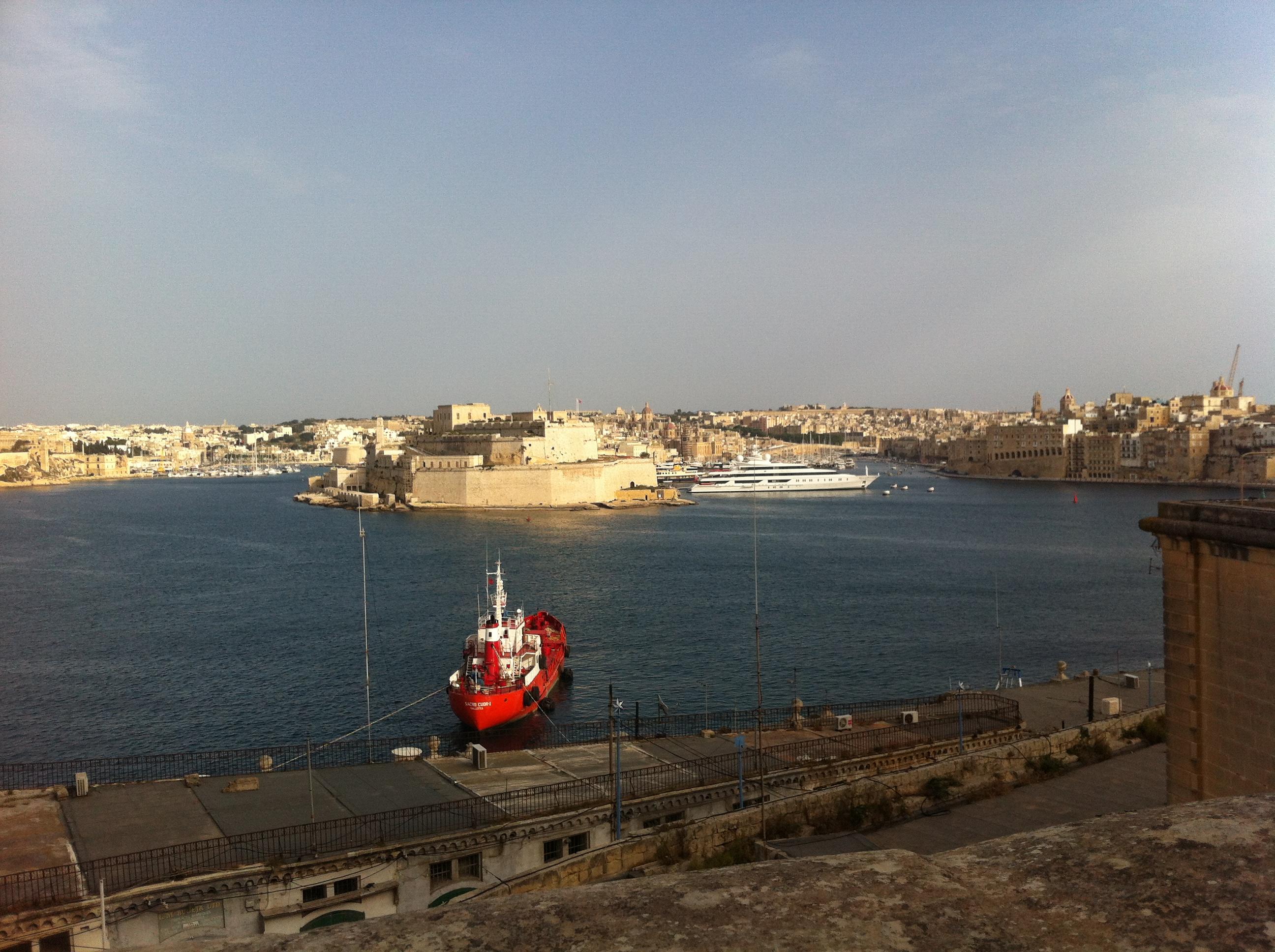 Вид на столицу Мальты